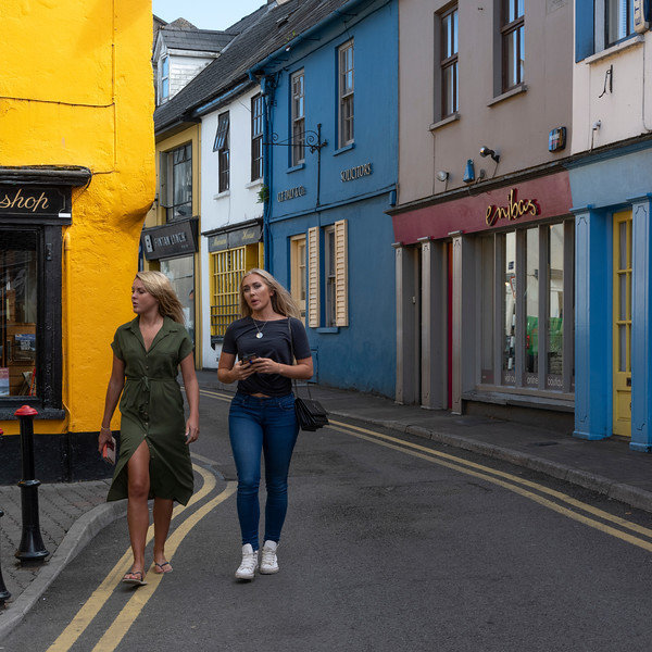 Beautiful women walking by the city, Kinsale, County Cork, Ireland