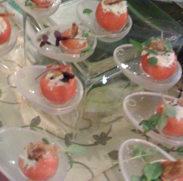 Tomato appetizers at #TasteCLT