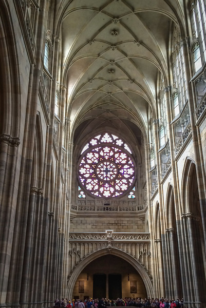 Prague: St. Vitus Cathedral, rose window