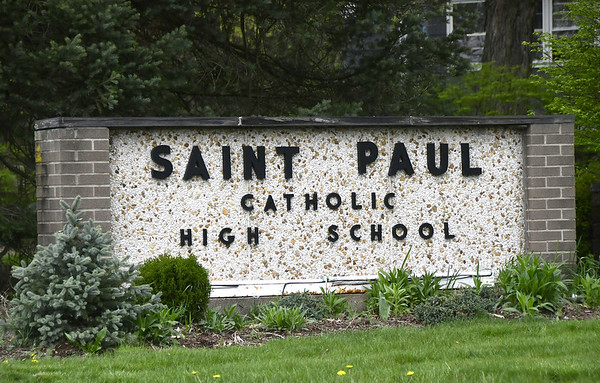 St Paul High School sign