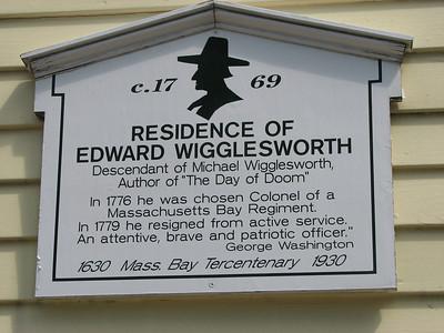 Col. Edward Wigglesworth Home