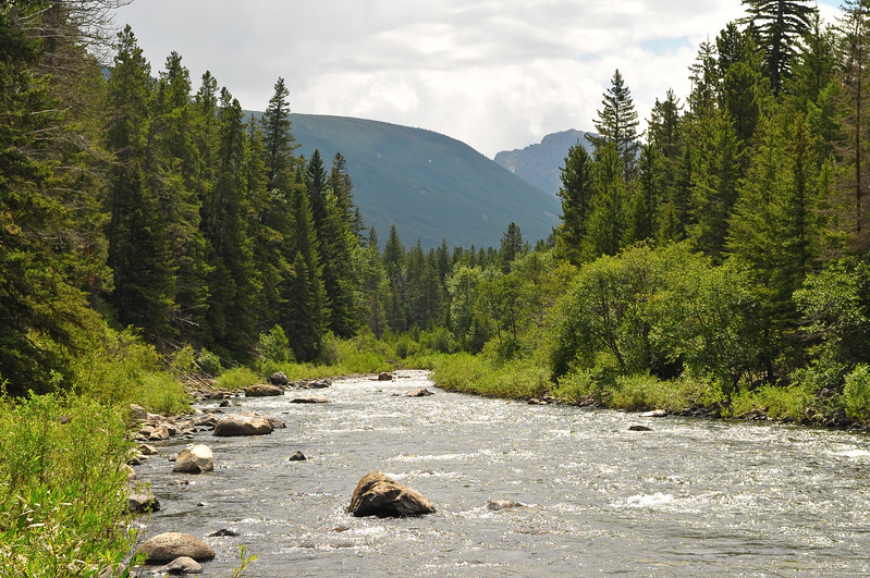 Boulder River south of Big Timber, Montana