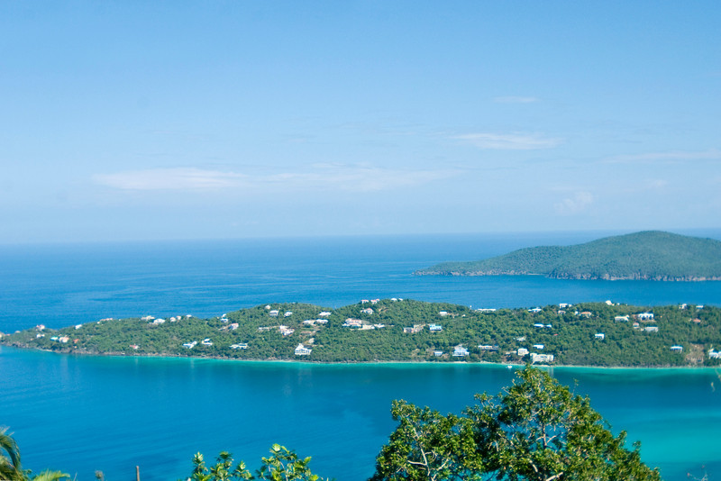 Magens Bay in St Thomas and surrounding islands