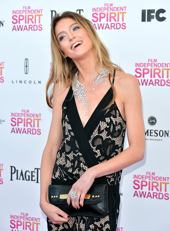 . SANTA MONICA, CA - FEBRUARY 23:  Actress Stephanie Crayencour attends the 2013 Film Independent Spirit Awards at Santa Monica Beach on February 23, 2013 in Santa Monica, California.  (Photo by Alberto E. Rodriguez/Getty Images)
