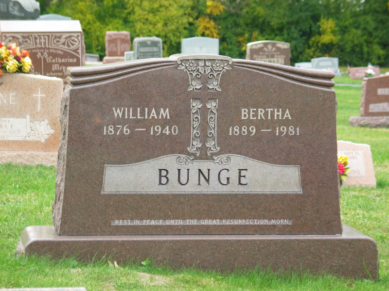 William & Bertha Bunge