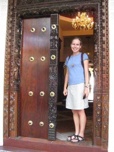 Ornately carved doors