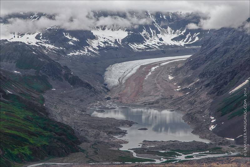 Backside Glacier Above Ruth Glacier - Denali NP