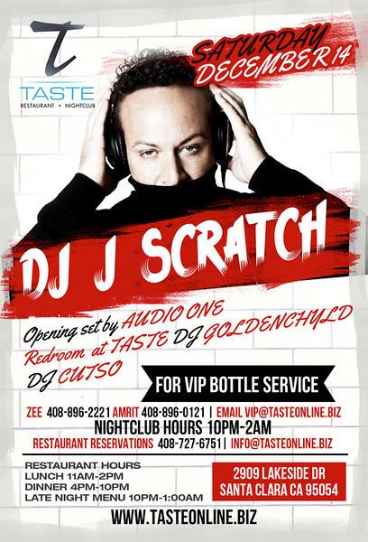 DJ J Scratch @ Taste Restaurant & Nightclub 12.14.13