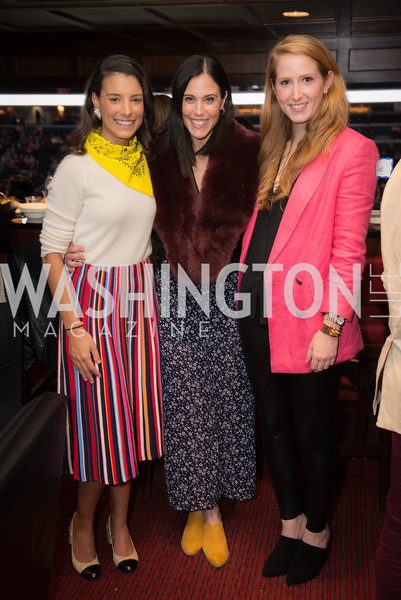 Caroline Elia, Candace Ourisman, Juliet Ourisman,  Washington International Horse Show, Young Nelson Society, Capital One Arena, October 26, 2018.  Photo by Ben Droz.