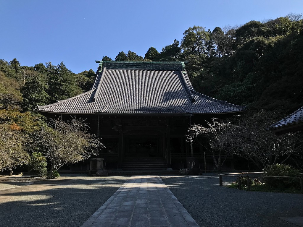 The main temple building at Myohonji.