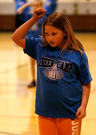 SNHS Boys Basketball vs Covt Christian - Homecoming - Mini Cheer 2013