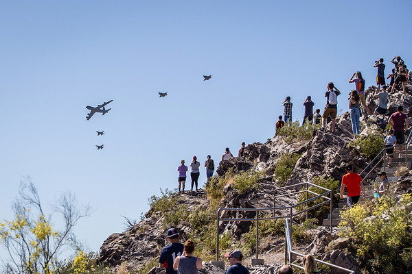 Air Force Flyover from Tempe