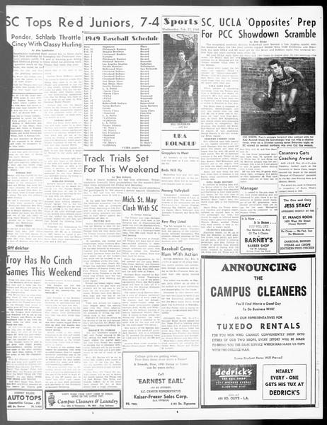 Daily Trojan, Vol. 40, No. 84, February 23, 1949