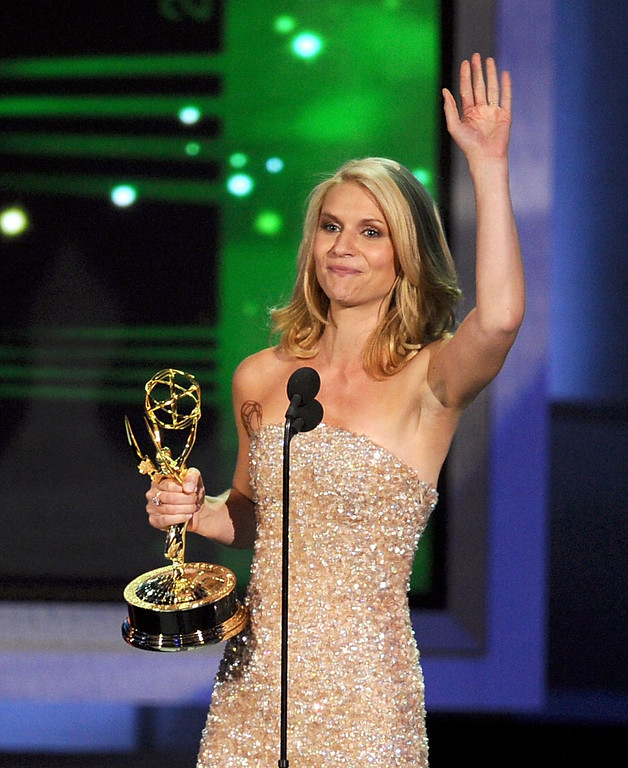 . Actress Claire Danes accepts the Outstanding Lead Actress in a Miniseries or Movie award onstage at the 62nd Annual Primetime Emmy Awards held at the Nokia Theatre L.A. Live on August 29, 2010 in Los Angeles, California.  (Photo by Kevin Winter/Getty Images)