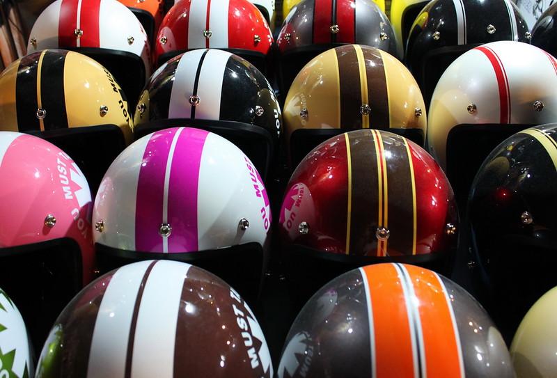 Helmets custom painted