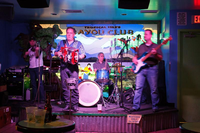 Live Cajun Music at hte Bayou Club