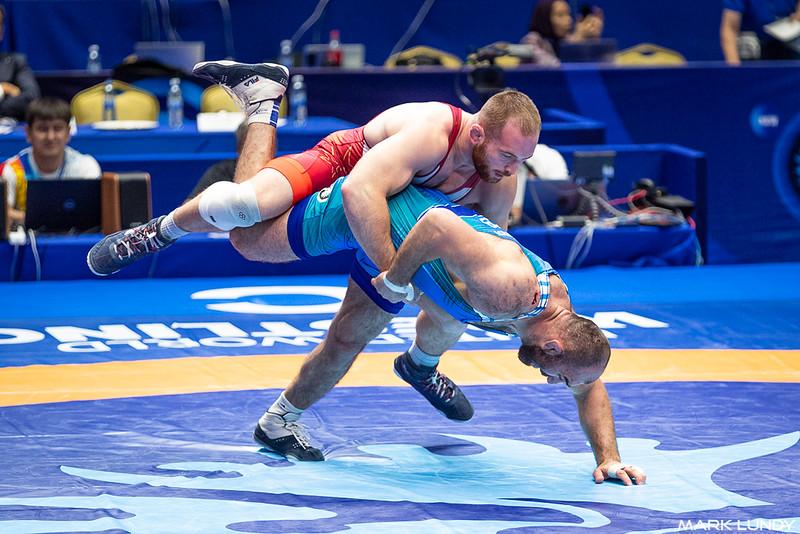 Quarterfinal: Kyle Frederick Snyder (United States) over Magomed Idrisovitch Ibragimov (Uzbekistan)  •  Fall 5:27 - 2019 World Championships