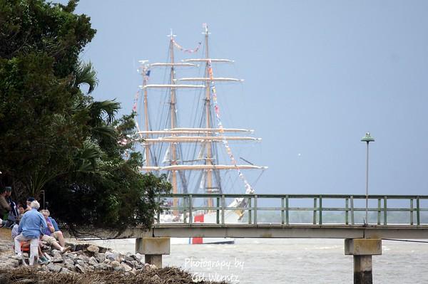 May 2012- Tall Ship Fleet Leaving Savannah