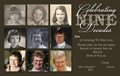 Iris 90th Birthday