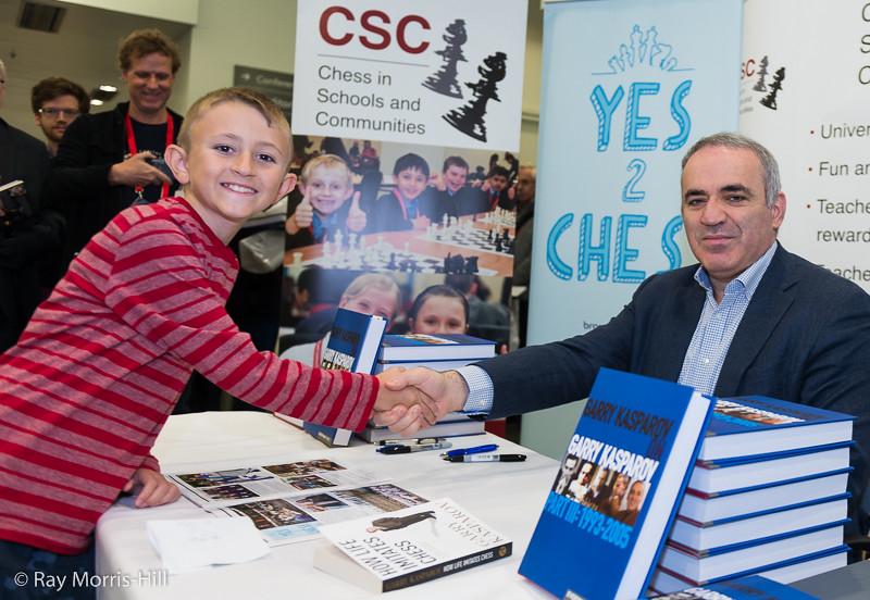 Garry Kasparov book signing