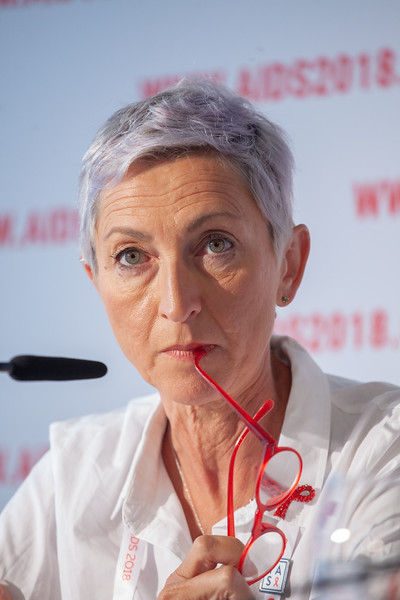The Netherlands, Amsterdam, 24-7-2018. Press Conference HIV Prevention Highlights Research. Linda-Gail Bekker.Photo: Rob Huibers for IAS. (Please publish always with complete attribution).