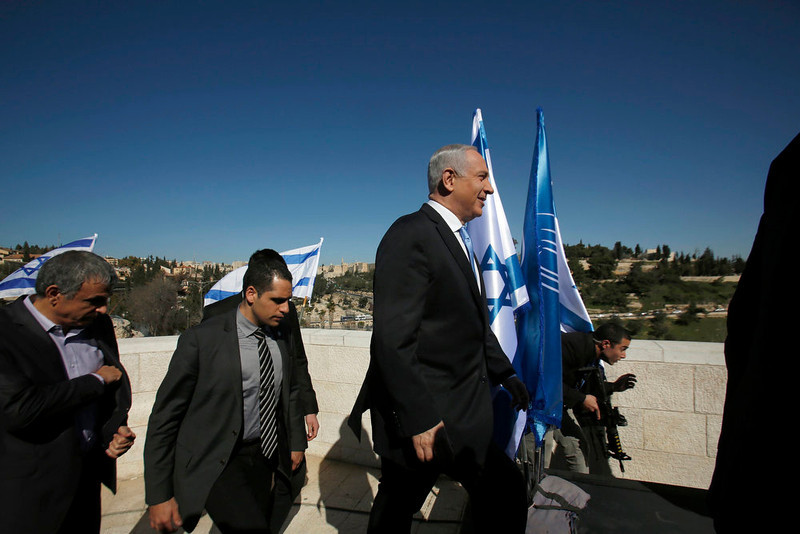 """. Israel\'s Prime Minister Benjamin Netanyahu arrives to give a statement outside the Menachem Begin Heritage Center in Jerusalem January 21, 2013. Netanyahu made an election eve appeal to wavering supporters to \""""come home\"""", showing concern over a forecast far-right surge that would keep him in power but weaken him politically. REUTERS/Baz Ratner"""