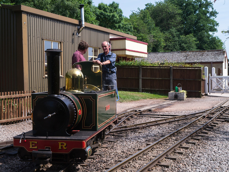 Parking the steam engine to fill it up with water