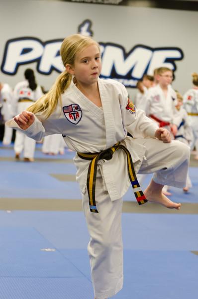 Makayla getting ready to kick some butt