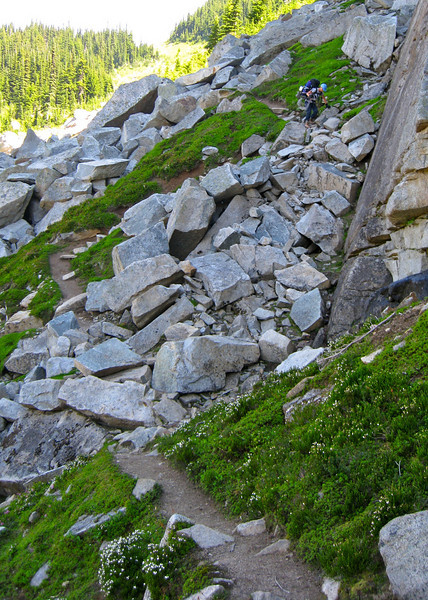 I liked this part of the trail below Cloudy Pass.