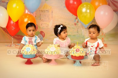 Triplets Cake Smash