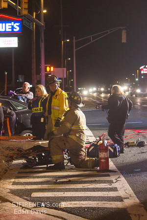 10-31-2014, MVC with Entrapment, Millville, Cumberland County NJ, N. 2nd St. and Union Lake Blvd.
