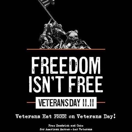 2017_1111 Mission BBQ 20707 -- Veterans Day --  Freedom Isn't Free