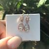1.51ctw Diamond Mosaic OEC Dangle Earrings 21