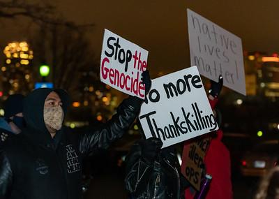 2020 11 26 Native Lives Matter No ThanksKilling Protest