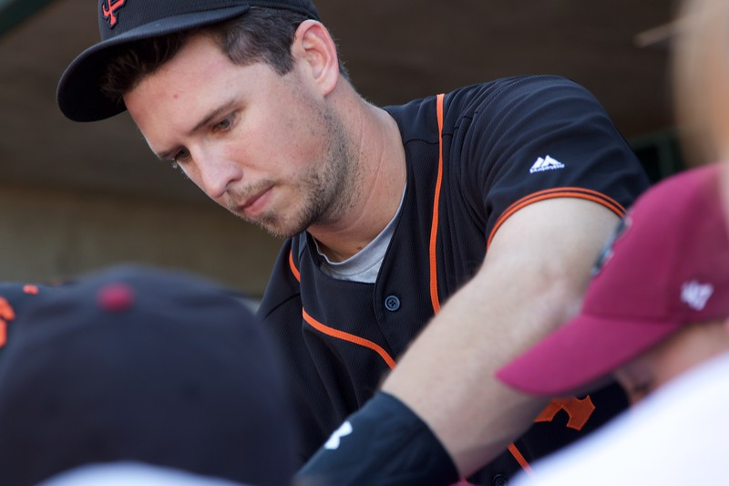 Buster Posey signs autographs at Raley Field