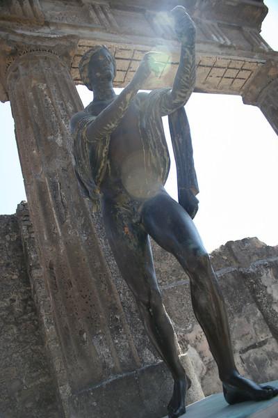 Pompei, Italy: statue of Apolo