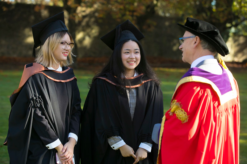 01/11/2018. Waterford Institute of Technology (WIT) Conferring Ceremonies 2018. Pictured are Xinyue guan and Jing Shui Shanghai. Picture: Patrick Browne