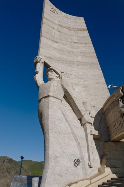 Eine Statue zum Gedenken an 1921 als die Chinesen verjagt wurden. Mit russischer Hilfe.