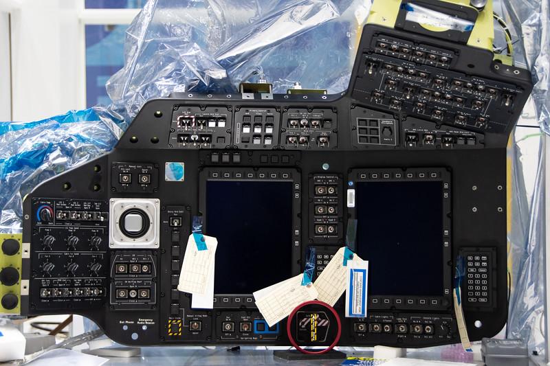 Starliner's control panel