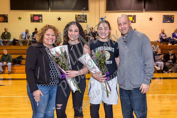 Berks Catholic Girls Varsity Senior Night 2016