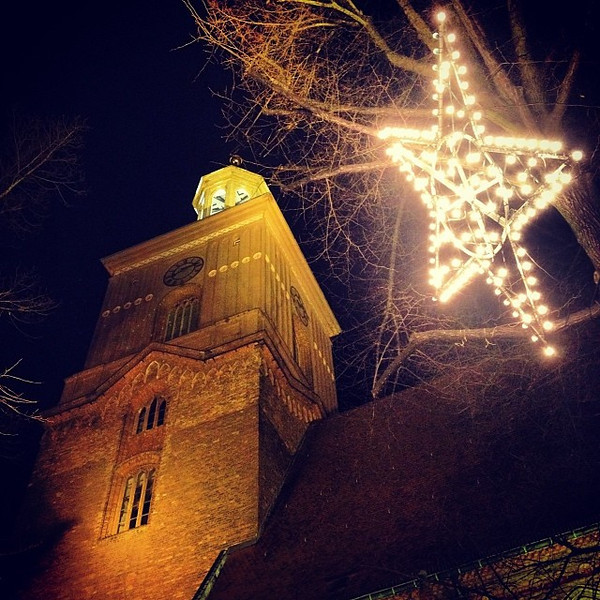 In the shadow of St. Nikolai, from the medieval Christmas market in old town Spandau.