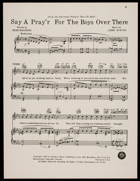 Say a pray'r for the boys over there