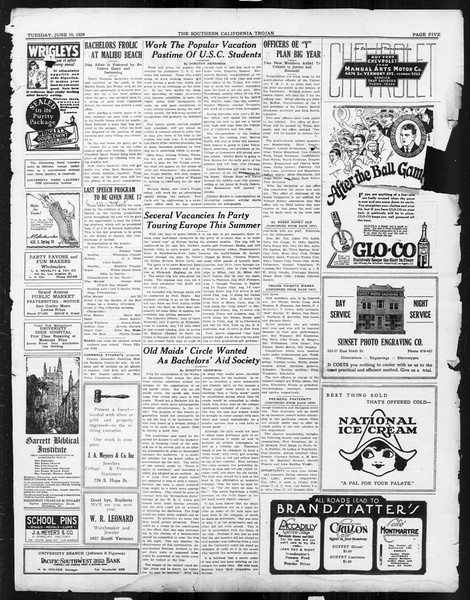 The Southern California Trojan, Vol. 15, No. 96, June 10, 1924