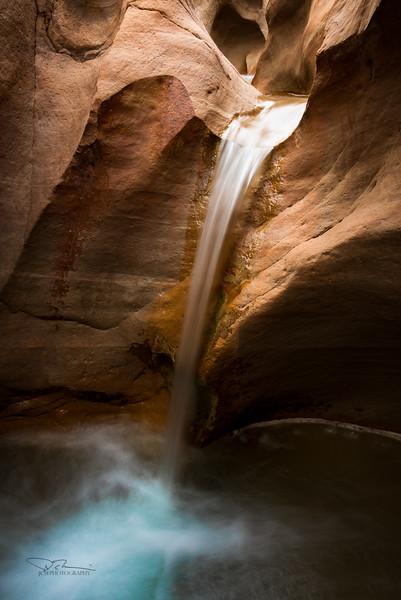 Willis Creek Waterfall, Grand Staircase, UT
