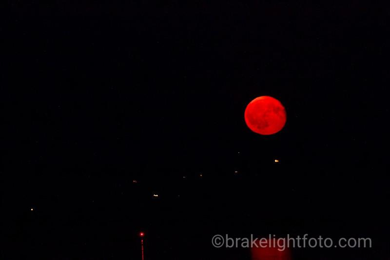 Smokey Moonrise from Island View Beach