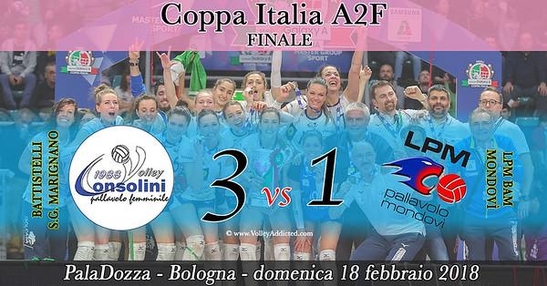 Finale A2F: Battistelli S.G. Marignano - Lpm Bam Mondovì