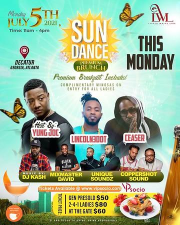 SUN DANCE PREMIUM BRUNCH JULY 5th 2021