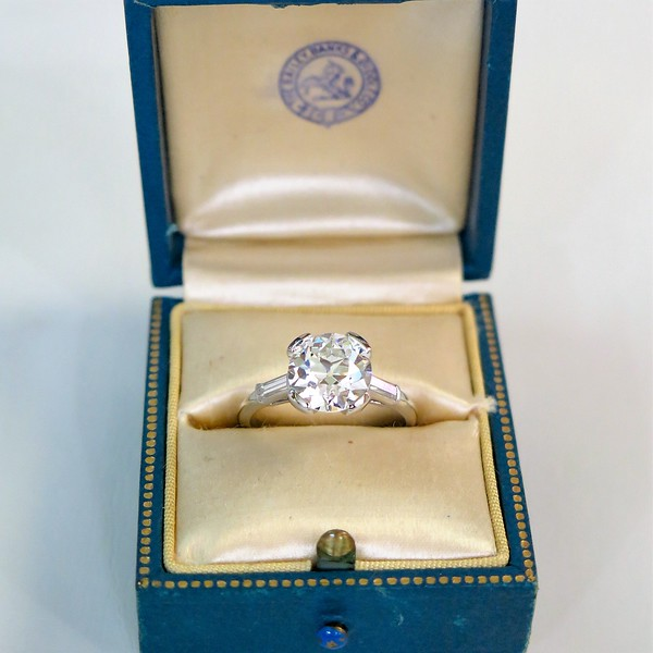 3 05ct Old European Cut Diamond By Bailey Banks Biddle C1930 Jewels By Grace