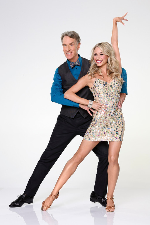 """. DANCING WITH THE STARS - BILL NYE & TYNE STECKLEIN - Bill Nye joins first time professional partner Tyne Stecklein. \""""Dancing with the Stars\"""" returns for Season 17 on MONDAY, SEPTEMBER 16 (8:00-10:01 p.m., ET), on the ABC Television Network. (ABC/Craig Sjodin)"""