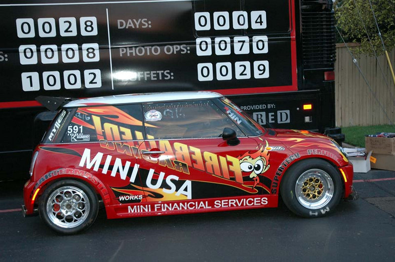 Sponsored by MINI USA, this MINI is hard to miss (loud).